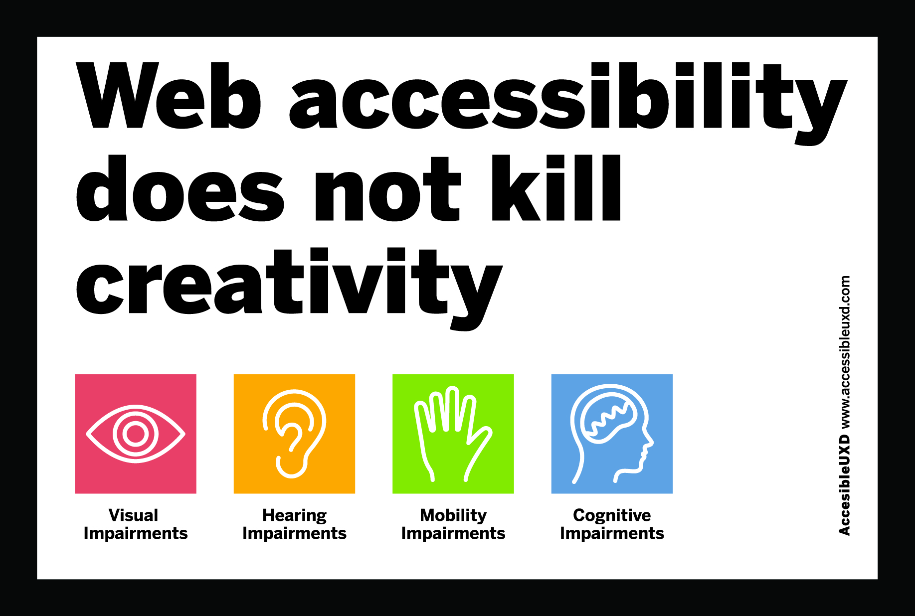 Web accessibility does not kill creativity